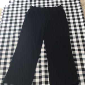Talbots Black knit wide leg pant petite small